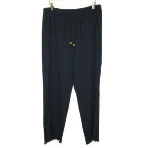 Soft Surroundings Black Drawstring Wide Leg Pants